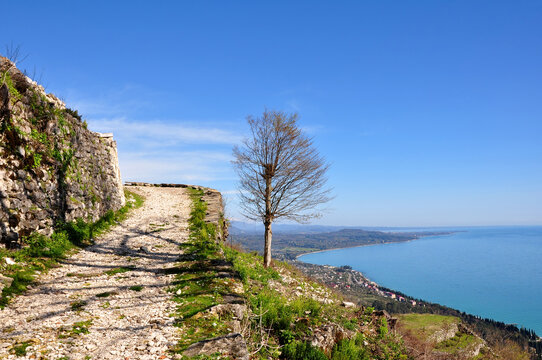 The road to the Anakopia fortress. New Athos, Abkhazia