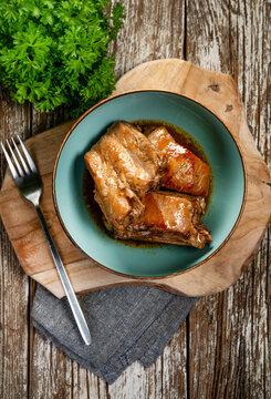 Braised pork ribs.