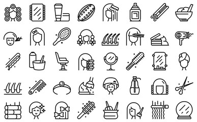 Obraz Coiffure icon. Outline coiffure vector icon for web design isolated on white background - fototapety do salonu