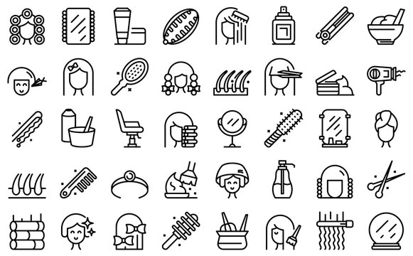 Coiffure icon. Outline coiffure vector icon for web design isolated on white background