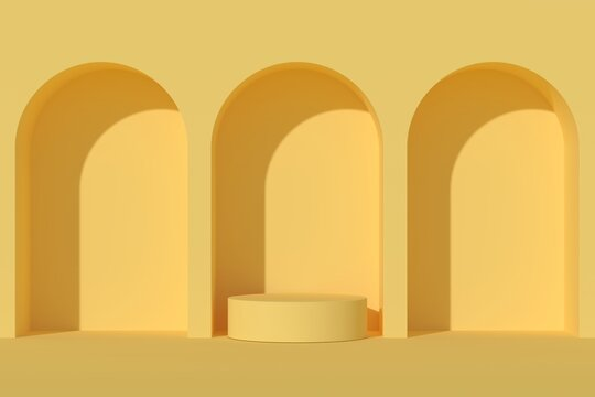 Abstract background minimal style for product branding. Mock up scene and empty space. 3d render
