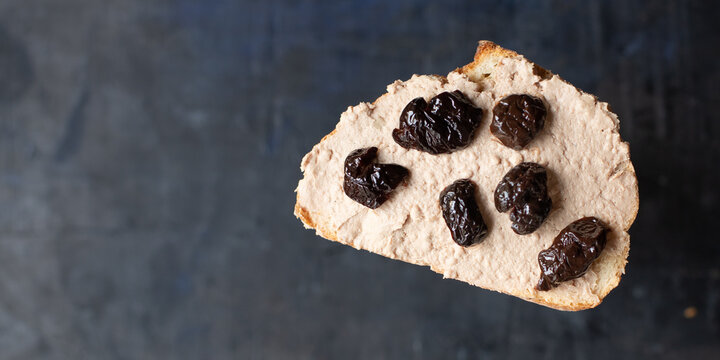 fresh sandwich olives dried vegetables appetizer portion organic dish on the table healthy food meal snack copy space food background rustic. top view