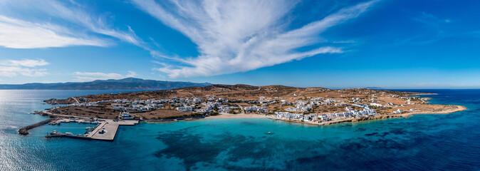 Greece, Pano Koufonisi small cyclades island, aerial drone panorama - fototapety na wymiar
