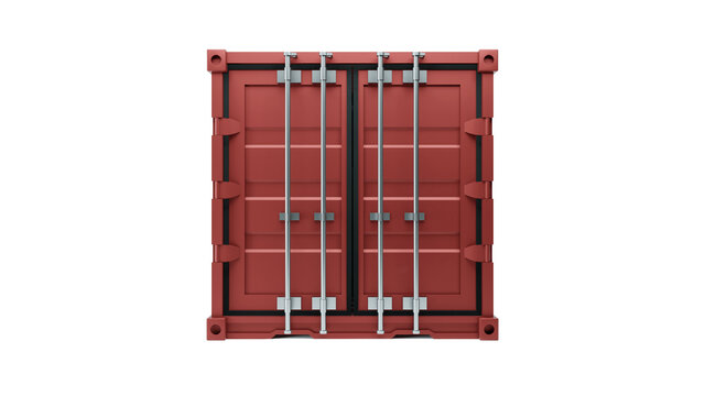 3d illustration of freight box container for shipping