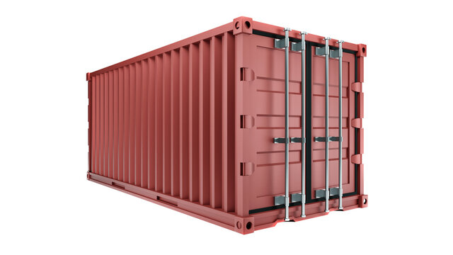 Realistic 3d illustration of freight box container for shipping