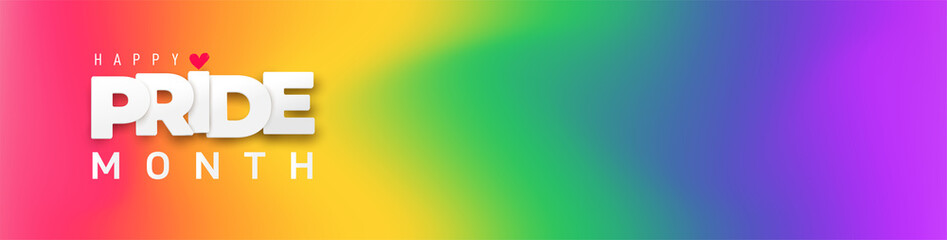 Obraz Pride Gradient background with LGBTQ Pride 2021. Gay parade annual summer event. Pride symbol with heart, LGBT, sexual minorities, gays and lesbians. Template designer sign, icon, event banner design. - fototapety do salonu