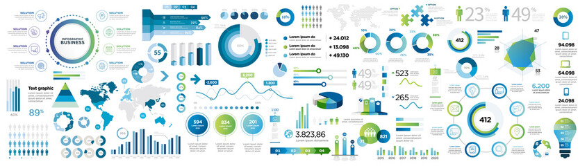 Fototapeta infographics collection obraz