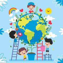 Obraz Concept Of Mother Earth Day - fototapety do salonu