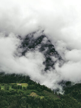 clouds in the austrian mountains