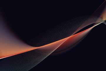 Fototapeta wave abstract line background, mordern waves. obraz