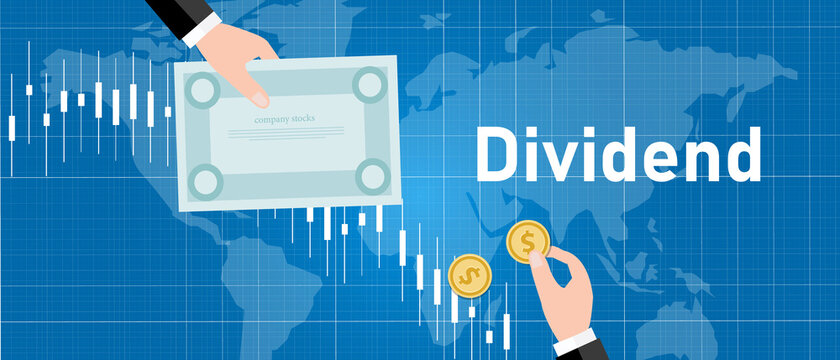 Dividend stock market company profit share to stakeholder investor earning
