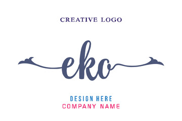 EKO lettering logo is simple, easy to understand and authoritative