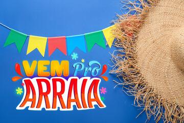 Obraz Beautiful greeting card for Festa Junina (June Festival) - fototapety do salonu