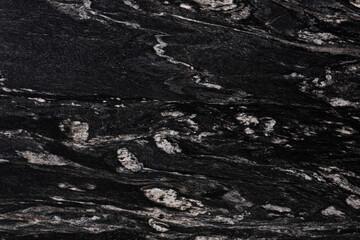 Elegant Cosmic Black - granite background, texture in classic tone for your personal creative interior work.