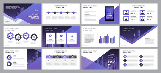 Fototapeta business presentation template design backgrounds and page layout design for brochure, book, magazine, annual report and company profile, with info graphic elements graph design concept obraz