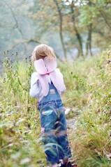 Fototapeta Full Length Of Girl Standing On Field obraz