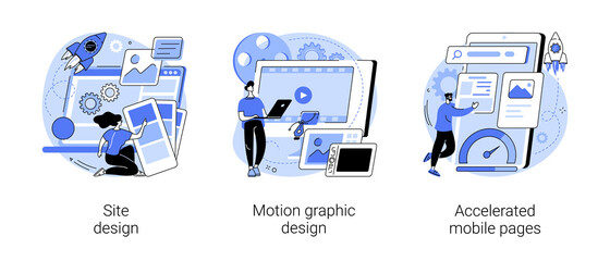 Obraz Web development company abstract concept vector illustrations. - fototapety do salonu