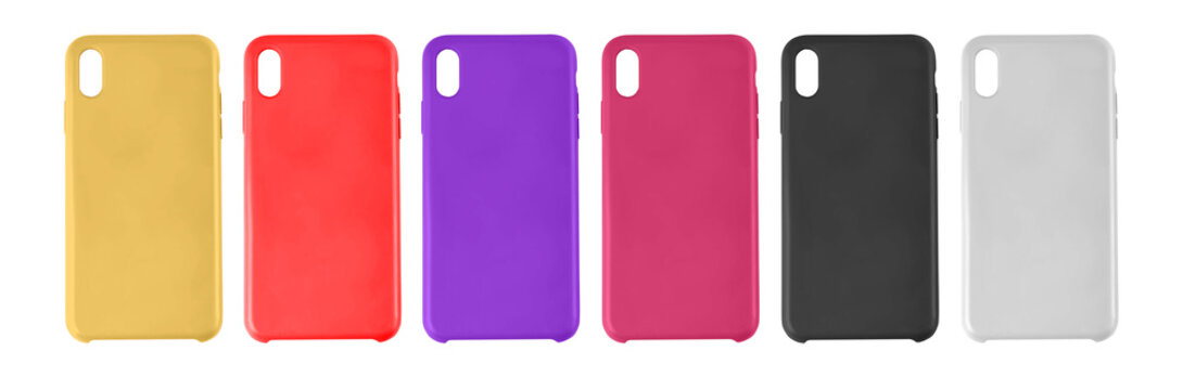 smartphone case isolated on white