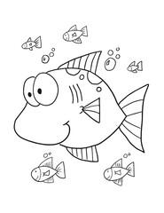Cute Fish Vector Illustration Art