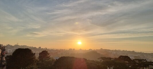 Obraz Nascer do sol - Curitiba - fototapety do salonu
