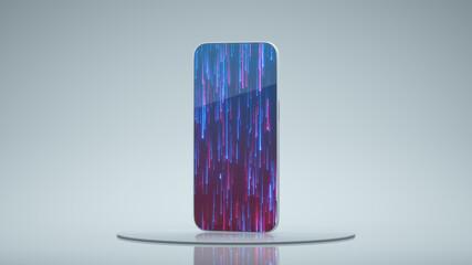 Obraz Generic futuristic ultrathin smartphone 3D render - fototapety do salonu