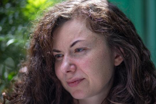 Close portrait of a woman