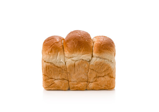 Fresh bread or bun on isolated white background