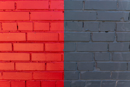 Abstract background of multicolored brick wall. Exterior design
