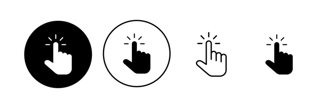 Hand cursor icon set. cursor icon vector. hand cursor icon click