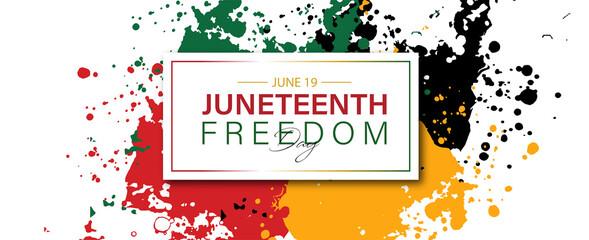 Fototapeta Juneteenth freedom day June 19 banner poster design . obraz