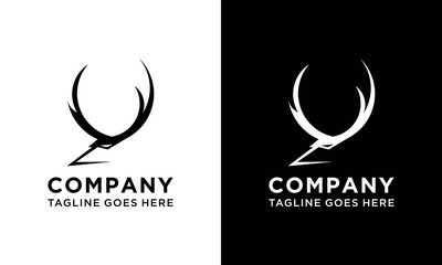 deer antlers logo vector illustration icon logo design inspiration.