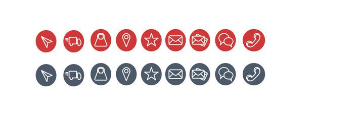 ikony, zestaw, ilustracja, sieć, projekt, zestaw ikon, tarcza, zamknięty otwarty, - fototapety na wymiar