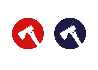 Obraz Siekiera logo - fototapety do salonu