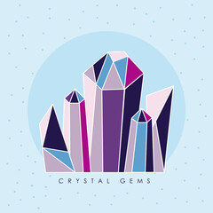 Fototapeta five crystal gems obraz