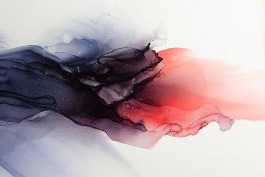 アルコールインク|カラフルな抽象流動体アート