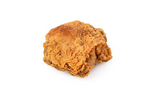 Fresh fried chicken on white background