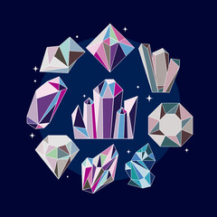 Fototapeta nine crystal gems obraz
