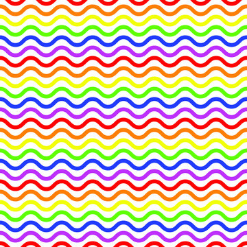 Seamless background of watery gay pride rainbow