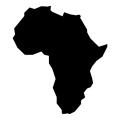 Fototapeta rough silhouette of African continent isolated on white vector illustration obraz
