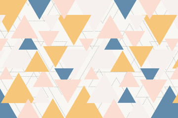 Colorful geometric with thin black dotted line
