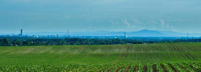 Fototapeta Widok na góry i panoramę miasta obraz
