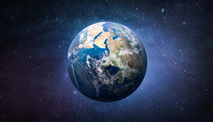 Fototapeta Planet Earth globe in the space, Blue ocean and continents. Elements of this image furnished by NASA obraz