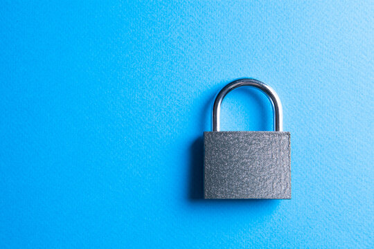 lock on a blue background