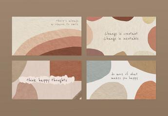 Fototapeta Editable Banner Layout in Earth Tone Style obraz