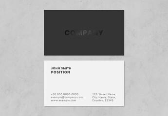 Fototapeta Simple Business Card Layout obraz