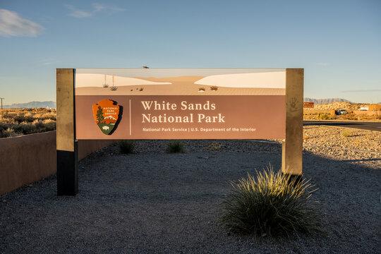 White sands National Park Entrance Sign