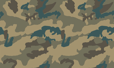 Texture military camouflage repeats seamless Vector Pattern For fabric, background, wallpaper and others. Classic clothing print. Abstract monochrome seamless Vector camouflage pattern.