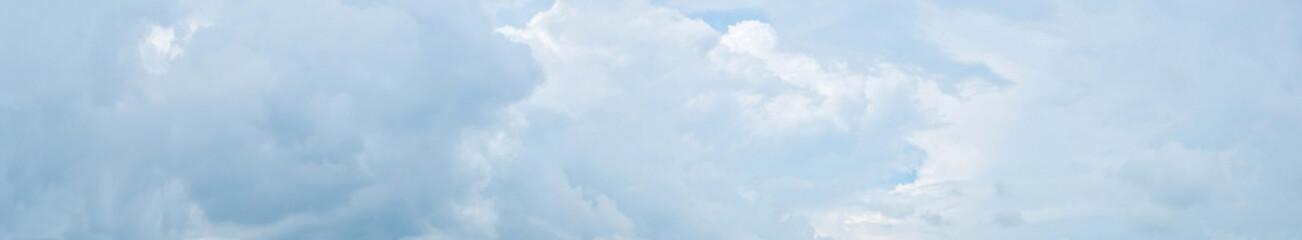 Fototapeta Panorama of cloudy sky with clouds.  obraz
