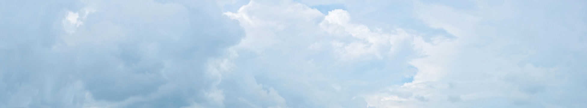 Panorama of cloudy sky with clouds.