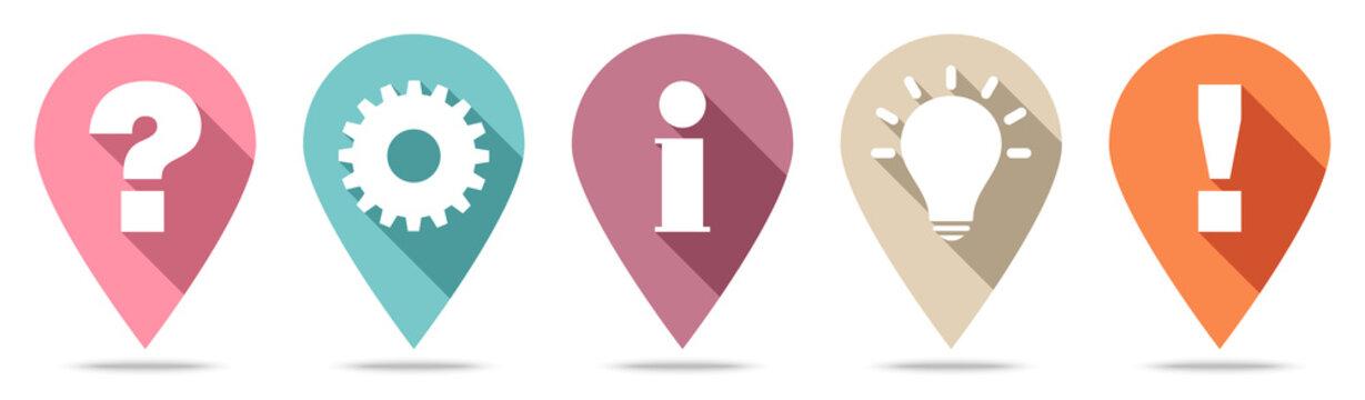 Fünf Pins Frage Idee Information Zahnrad Und Antwort